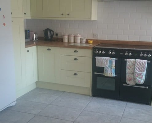 Hand painted shaker kitchen